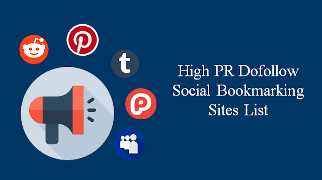 High PR Free DoFollow Social Bookmarking Sites List