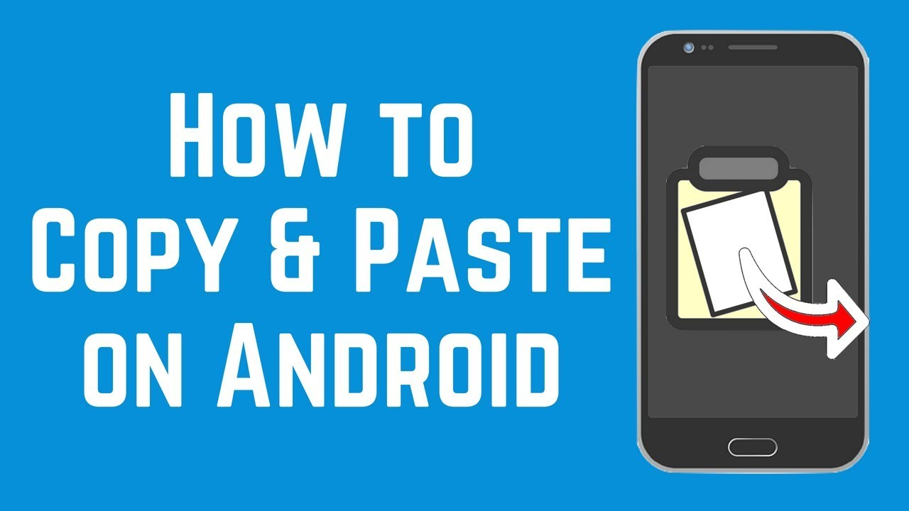 Copy and paste on android with a simple touch