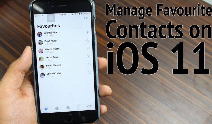 How to Manage Favorite Contacts in iPhone