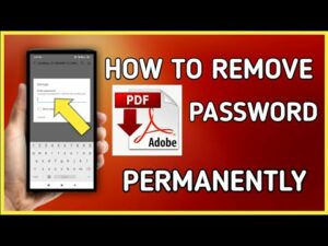 How to remove password from PDF in Android